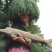 Hecht-Skulptur auf dem Gartenfestival Herrenhausen