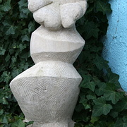 Blumen-Skulptur