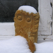 Eulen-Skulptur