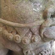 Detail der Bes-Skulptur