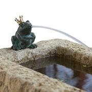 Sandstein-Rockpot mit Frosch