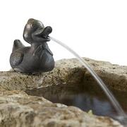 Sandstein-Rockpot mit Ente