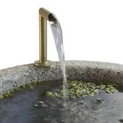 Detail Zylinderbrunnen aus Granit