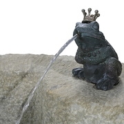 Detail Brunnen mit Frosch
