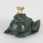 Frosch mit dicken Backen