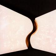 Draufsicht eines zweiteiligen Doppelsteins