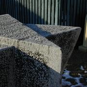 Detail eines Ausstellungsteins