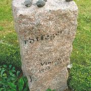 Einzelgrabstein aus Granit